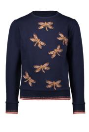 Nono Kylia sweater broderie libellen