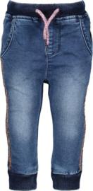 B-nosy meisjes broek blauw met glitter bies