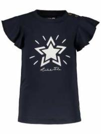 Like Flo t-shirt antraciet roezelmouw