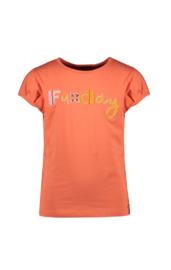Nono T-shirt koraal broderie