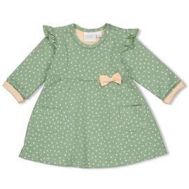 Feetje meisjes jurkje hartjes groen