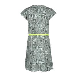 Kiestone jurkje groen zebra print met tailleriempje