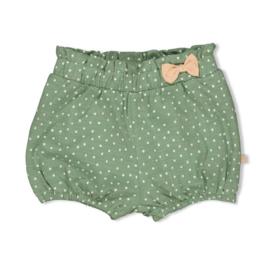 Feetje meisjes kort broekje hartjes groen