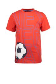 Tygo&Vito Boys tshirt rood voetbal