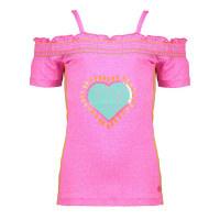 Kidz-Art meisjes topje felroze met hart