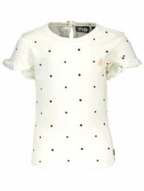 Like Flo tshirt tshirt wit gestipt roezelmouw