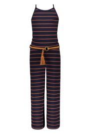 Street called Madison jumpsuit navy gestreept