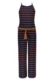 Street called Madison jumpsuit navy gestreept