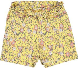Garcia Girls korte broek geel bloemenprint