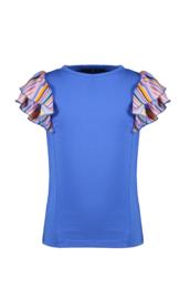 Nono t-shirt blauw roezel mouwen
