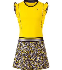 Chaos and Order meisjes jurkje geel met bloemen rok