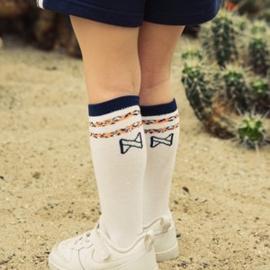Koko noko meisjes sokken 2-pack Navy en wit
