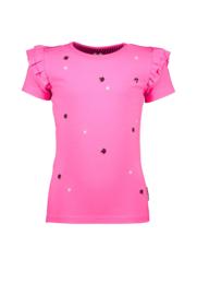 B-nosy meisjes tshirt roze met paletten