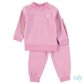 Feetje baby wafel pyjama roze