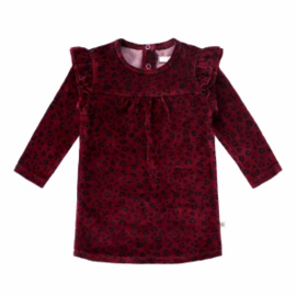 Your Wishes ruffle sweater dress plum