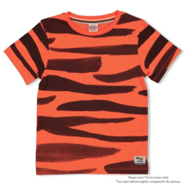 Feetje jongens tshirt rood zebra