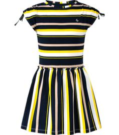 Chaos and Order meisjes jurkje geel strepen