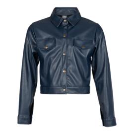 Kiestone leren jasje donkerblauw  KS6570