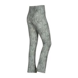 Kiestone flaired broek groen zebra print