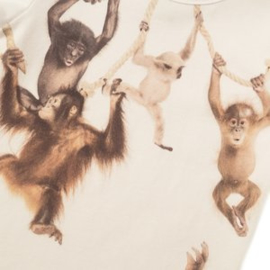 Koko noko jongens tshirt wit apen