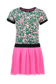 B-nosy meisjes jurkje met tule rok roze