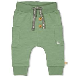Feetje jongens broek groen met zijzakken