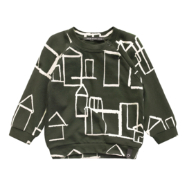 Your Wishes sweater army groen