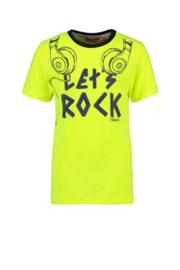 Tygo&Vito Boys tshirt neon geel lets rock