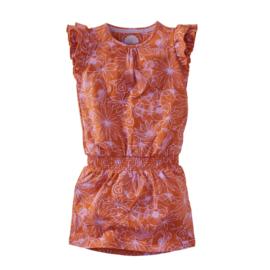 Z8 jurkje roest bloemenprint Elara