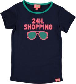 Funky XS Girls t-shirt navy shopping