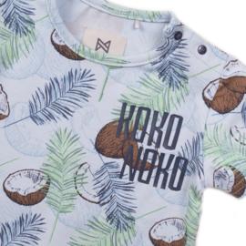 Koko noko jongens tshirt lichtblauw kokosnoten