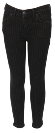 LTB meisjes lonia super skinny spijkerbroek zwart strepen