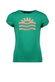 Like Flo tshirt open schouder groen 5447