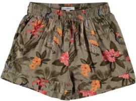Garcia Girls green flower short