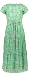 Nono Mirthy 7/8 lengte jurk met  print  mesh groen