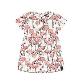 your wishes meisjes jurkje flamingo