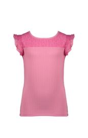 Nono T-shirt felroze roezel mouwen