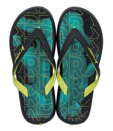 Ipanema Rider kids jongens slippers zwart/geel/groen