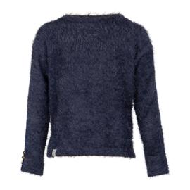 Kiestone trui harig donkerblauw KS6556