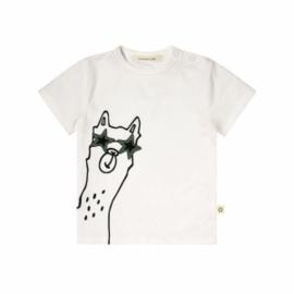 Your Wishes jongens tshirt wit lama