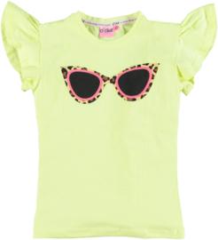 O'chill t-shirt Vera shirt geel zonnebril
