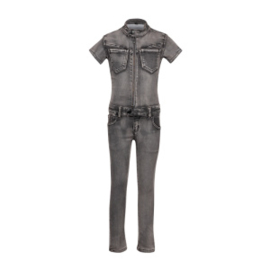 Dutch Dream Denim meisjes madini jumpsuit grijs