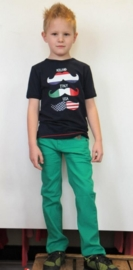 Brams Paris groene spijkerbroek en Funky XS shirt