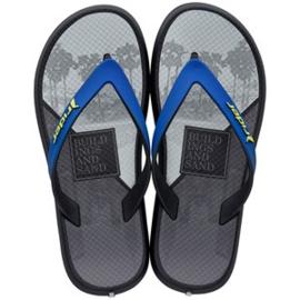 Rider slippers grijs blauw