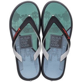 Rider slippers grijs groen