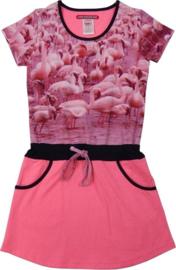 Lovestation22 meisjes jurk roze flamingos