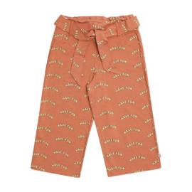 CarlijnQ meisjes korte broek roest met print