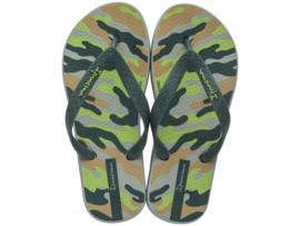 Ipanema classic kids jongens slippers groen/beige