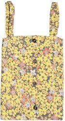 Garcia Girls hemdje geel bloemenprint