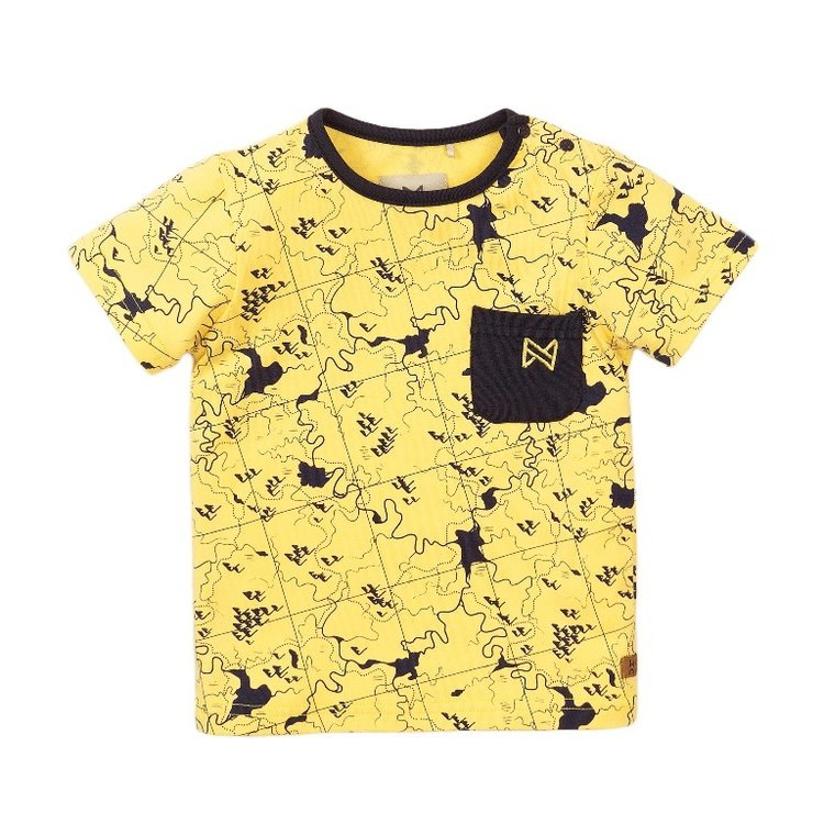 Koko noko jongens tshirt geel print